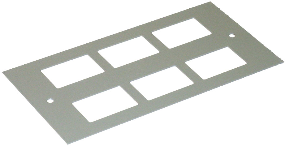 6 Way Data Outlet Plate